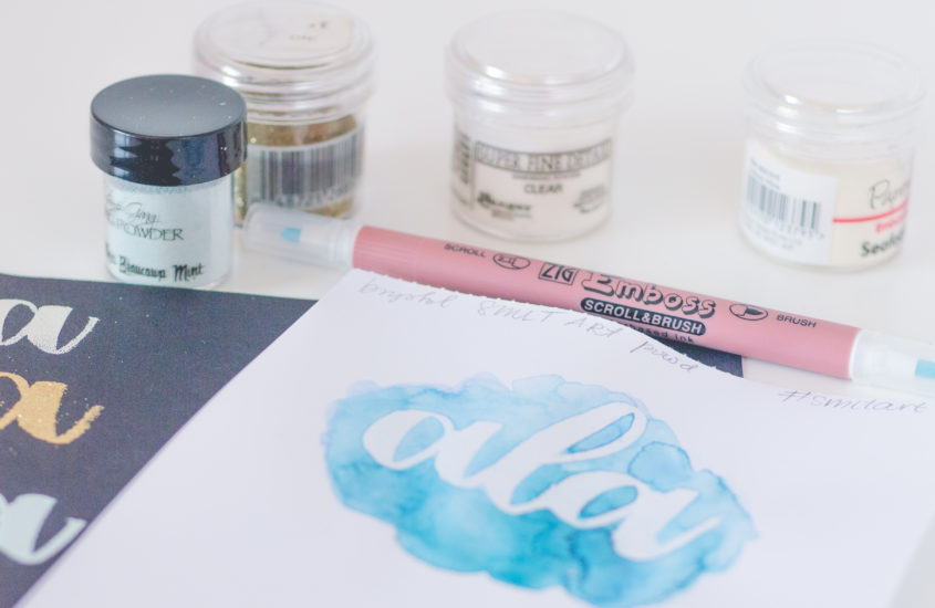 Embossing + brush lettering